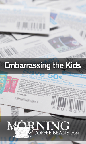 When our children were teenagers, one of the things they hated most was when I used coupons to buy groceries or when I would count out change from my purse instead of handing over dollar bills or a credit card. Little things embarrassed them, like when I cut a coupon from the newspaper for a bucket of chicken.  I stopped...